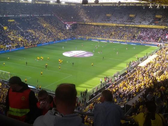 BVB - Leipzig: Aufwärmen vor dem 4:1 am 26.08.2018